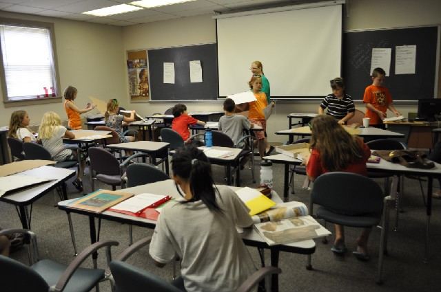 Bachelors in education students work with gifted children.